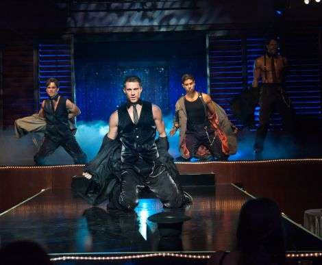 (L-r) MATT BOMER as Ken, CHANNING TATUM as Mike, ADAM RODRIGUEZ as Tito, and JOE MANGANIELLO as Big Dick Richie in Warner Bros. Pictures' dramatic comedy MAGIC MIKE,€ a Warner Bros. Pictures release. Photo by Claudette Barius.