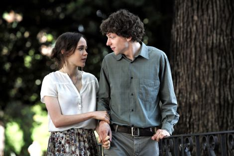 Left to Right: Ellen Page as Monica and Jesse Eisenberg as Jack. Photo by Philippe Antonello / Gravier Productions, Inc., Courtesy of Sony Pictures Classics.