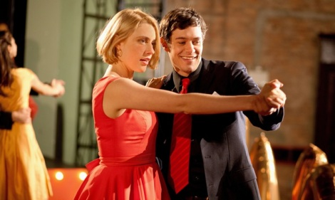 "Greta Gerwig and Adam Brody star in Whit Stillman's ""Damsels in Distress."" Credit: Sabrina Lantos, Courtesy of Sony Pictures Classics."