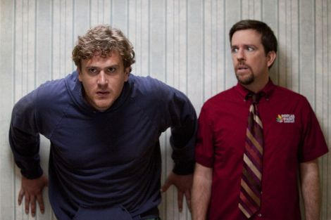 Left to right: Jason Segel plays Jeff and Ed Helms plays Pat in JEFF, WHO LIVES AT HOME, from Paramount Pictures and Indian Paintbrush. Photo credit: Hilary Bronwyn Gayle/Paramount Pictures.