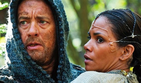 """Tom Hanks and Halle Berry star in Tom Tyker, Andy and Lana Wachowski's """"Cloud Atlas."""" Courtesy of Warner Bros. Pictures."""