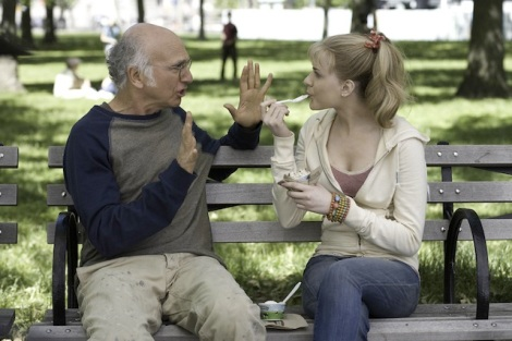 "Larry David and Evan Rachel Wood star in Woody Allen's ""Whatever Works."" Courtesy of Jessica Miglio, Gravier Productions/Sony Pictures Classics."