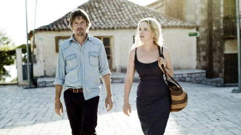 "Ethan Hawke and Julie Delpy star in Richard Linklater's ""Before Midnight."" Courtesy of Sundance Film Festival."