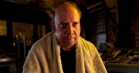 "Paul Giamatti in David Cronenberg's ""Cosmopolis."" Courtesy of Caitlin Cronenberg."