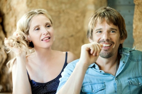 "Julie Delpy and Ethan Hawke star in Richard Linklater's ""Before Midnight."" Courtesy of Sony Pictures Classics."