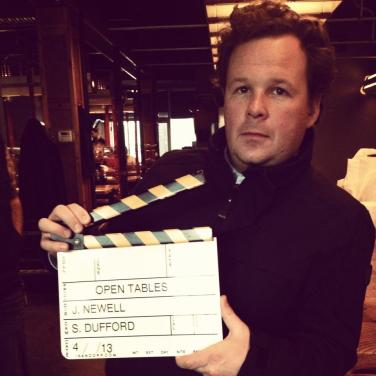 "Director Jack C. Newell on the set of ""Open Tables."" Courtesy of Jack C. Newell."