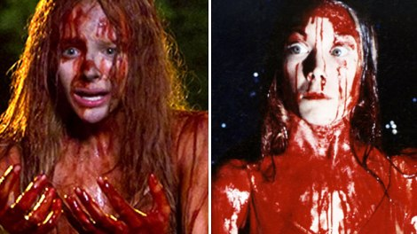 "Chloë Grace Moretz stars in Kimberly Peirce's ""Carrie."" Sissy Spacek stars in Brian De Palma's ""Carrie."" Courtesy of Yahoo."