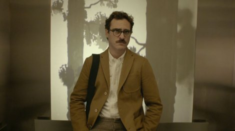 "Joaquin Phoenix stars in Spike Jonze's ""Her."" Courtesy of Annapurna Pictures."