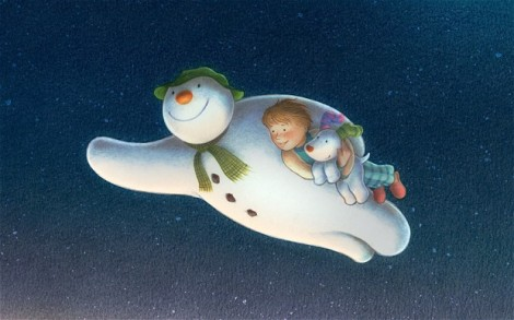 "Hilary Audus's ""The Snowman and the Snowdog."" Courtesy of NCircle Entertainment."