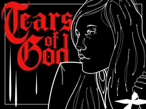 "Poster art for Robert Hillyer Barnett's ""Tears of God."" Courtesy of Vincent Riquier."