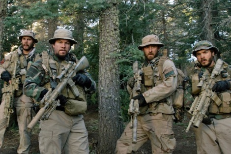 "Taylor Kitsch, Mark Wahlberg, Ben Foster and Emile Hirsch star in Peter Berg's ""Lone Survivor."" Courtesy of Universal Pictures."