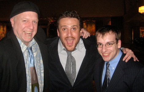Pat McDonald, Jason Segel and me. Courtesy of Pat McDonald.