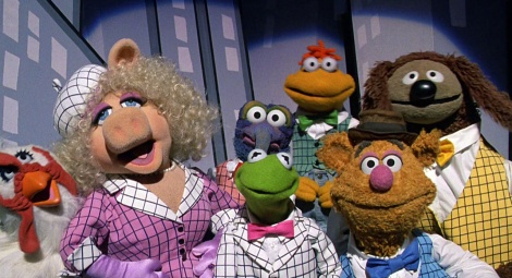 "Camilla, Miss Piggy, The Great Gonzo, Kermit the Frog, Scooter, Fozzie Bear and Rowlf star in Frank Oz's ""The Muppets Take Manhattan."" Courtesy of TriStar Pictures."