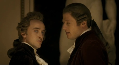 "Tom Felton and James Norton star in Amma Asante's ""Belle."" Courtesy of Fox Searchlight."