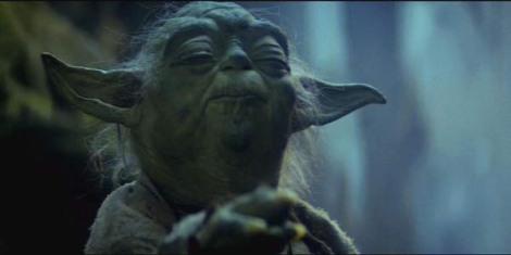 "Yoda in ""Episode V."" Courtesy of Twentieth Century Fox."