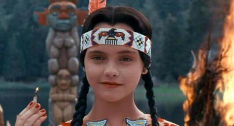 "Christina Ricci in Barry Sonnenfeld's ""Addams Family Values."" Courtesy of Paramount Pictures."