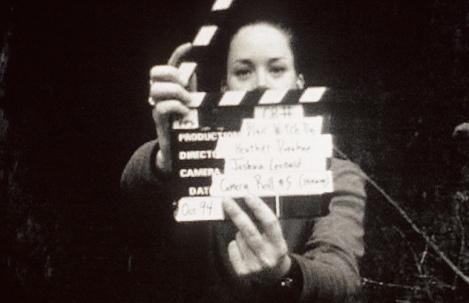 "Heather Donahue in Eduardo Sánchez and Daniel Myrick's ""The Blair Witch Project."" Courtesy of Haxan Films."
