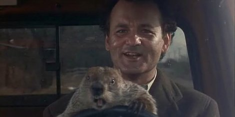 "Bill Murray in Harold Ramis's ""Groundhog Day."" Courtesy of Columbia Pictures."