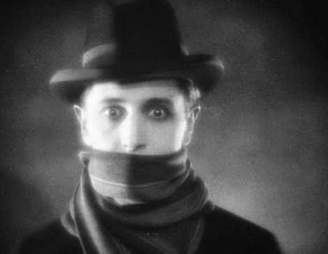 """Ivor Novello in Alfred Hitchcock's """"The Lodger."""" Courtesy of Gainsborough Pictures."""