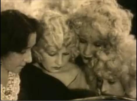 "Endangered blondes with ""golden curls""..."
