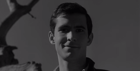 "Anthony Perkins stars in Alfred Hitchcock's ""Psycho."" Courtesy of Universal Pictures."