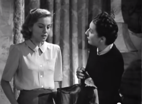 "Joan Fontaine and Judith Anderson star in Alfred Hitchcock's ""Rebecca."" Courtesy of The Criterion Collection."