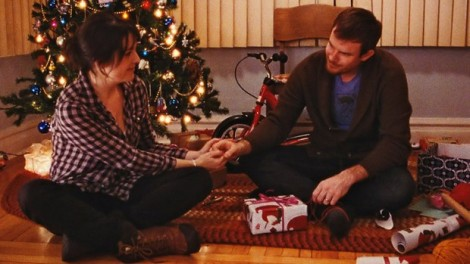 "Melanie Lynskey and Joe Swanberg in Swanberg's ""Happy Christmas."" Courtesy of Magnolia Pictures."