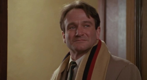"Robin Williams in Peter Weir's ""Dead Poets Society."" Courtesy of Touchstone Pictures."