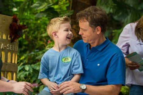 "Connor Corum and Greg Kinnear in Randall Wallace's ""Heaven Is For Real."" Courtesy of Tri-Star Pictures."