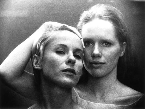 "Bibi Andersson and Liv Ullmann in Ingmar Bergman's ""Persona."" Courtesy of The Criterion Collection."