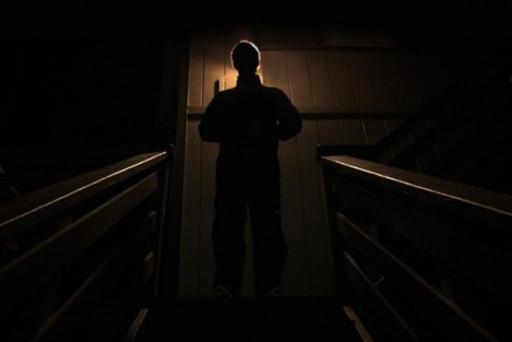 "Mark Duplass in Patrick Brice's ""Creep."" Courtesy of CIFF."