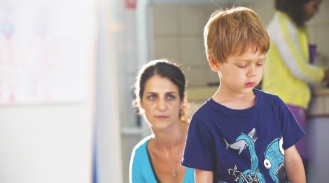 "Sarit Larry and Avi Shnaidman in Nadav Lapid's ""The Kindergarten Teacher."" Courtesy of CIFF."