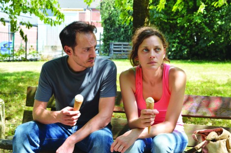 "Fabrizio Rongione and Marion Cotillard in Jean-Pierre and Luc Dardenne's ""Two Days, One Night."" Courtesy of CIFF."