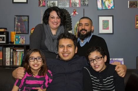 """The Rivera Family in Anne De Mare and Kirsten Kelly's """"The Homestretch."""" Courtesy of Kartemquin Films."""