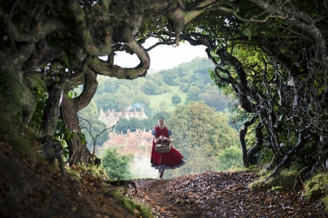 "Lilla Crawford stars in Rob Marshall's ""Into the Woods."" Courtesy of Disney."