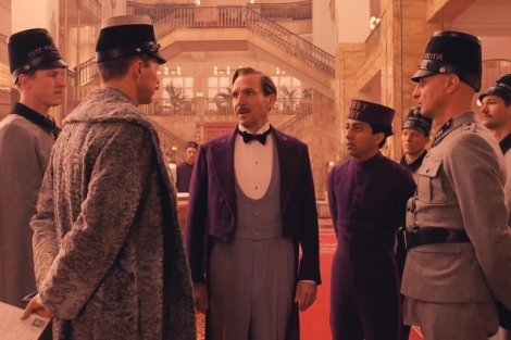 "Edward Norton, Ralph Fiennes and Tony Revolori in Wes Anderson's ""The Grand Budapest Hotel."" Courtesy of Indian Paintbrush."