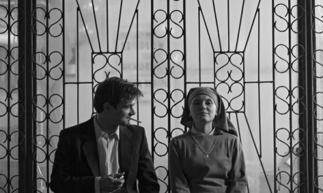 """Dawid Ogrodnik and Agata Trzebuchowska in Pawel Pawlikowski's """"Ida."""" Courtesy of Music Box Films."""