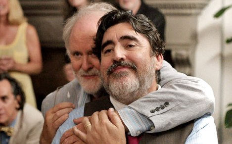 "John Lithgow and Alfred Molina in Ira Sachs's ""Love Is Strange."" Courtesy of Sony Pictures Classics."