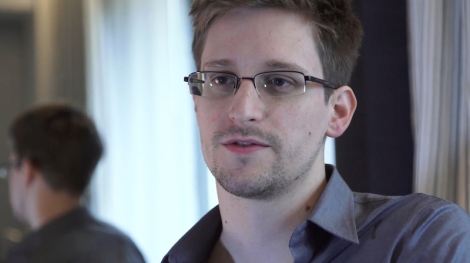 "Edward Snowden in Laura Poitras's ""Citizenfour."" Courtesy of Praxis Films."