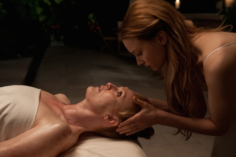 "Julianne Moore and Sarah Gadon in David Cronenberg's ""Maps to the Stars."" Courtesy of Focus World."