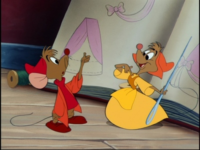 "Mice from 1950's ""Cinderella."" Courtesy of Disney."