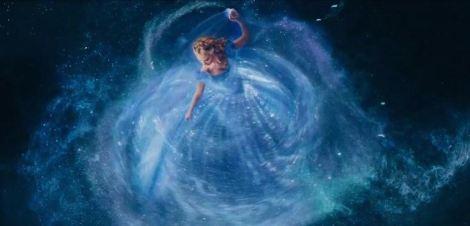 "Lily James in 2015's ""Cinderella."" Courtesy of Disney."