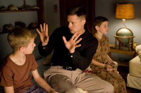 "Laramie Eppler, Brad Pitt and Tye Sheridan in Terrence Malick's ""The Tree of Life."" Courtesy of Fox Searchlight Pictures."