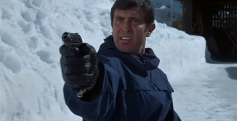 "George Lazenby in Peter Hunt's ""On Her Majesty's Secret Service."" Courtesy of MGM."