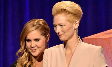 Amy Schumer and Tilda Swinton at the Gotham Independent Film Awards.