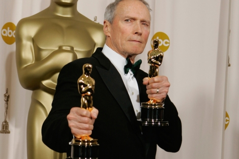Clint Eastwood at the 2005 Oscars. Courtesy of Hitfix.