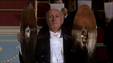 "The cymbalist in Alfred Hitchcock's ""The Man Who Knew Too Much."" Courtesy of Universal Pictures."