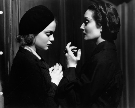 "Nan Grey and Gloria Holden in Lambert Hillyer's ""Dracula's Daughter."" Courtesy of Universal Pictures."