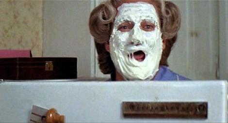 "Robin Williams in ""Mrs. Doubtfire."""