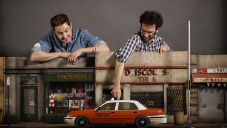"Duke Johnson and Charlie Kaufman, co-directors of ""Anomalisa."""